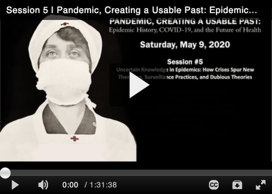 Pandemic, Creating A Usable Past: Epidemic History, COVID-19, and the Future of Health